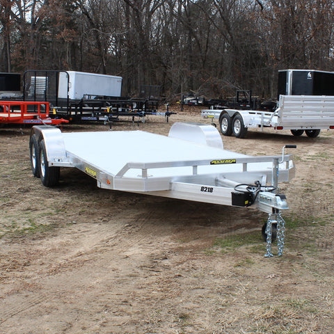 82X18 Tandem Axle Aluminium Carhauler with Rear Slide Out Ramps LEDs