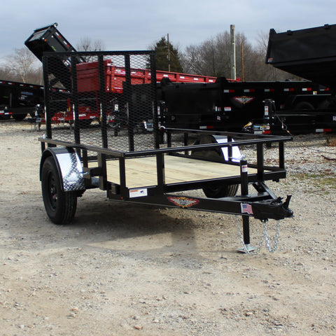 H&H TRAILERS 60X8 Single Axle Utility Trailer with Rear Ramp Gate - Haul Supply
