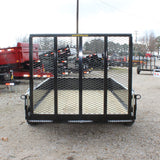 H&H TRAILERS 66X10 Single Axle Solid Sides Utility Trailer with Ramp Gate - Haul Supply