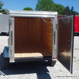 "4X6 Single Axle Cargo Trailer with Single Rear Door 13"" Radial Tires & LED Lights"