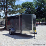 SPARTAN 6X12 Single Axle V-Nose Cargo Trailer Double Rear Doors and Radial Tires - Haul Supply