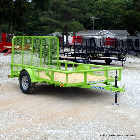 "77X10 Single Axle Utility Trailer With 4' Fold Gate 15"" Radial Tires & LED Lights"