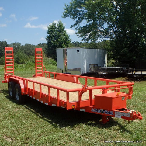 "83X20 14K Equipment Trailer with Slide In Ramps 16"" Radials Pipetop & LED Lights"