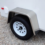 "5x8 Single Axle Flat Front Cargo Trailer with Single Swing Rear Door and 15"" Nitro Filled Tires"