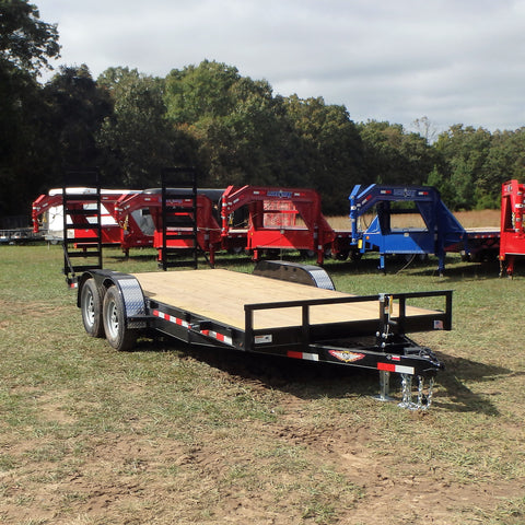 "82x18 Heavy Duty Tandem Axle Equipment Trailer with Heavy Duty Stand Up Ramps 15"" Radial Tires & LED Lights"