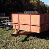 80x16 USED- Tandem Axle Utility Trailer with Solid Sides Double Rear Gate and Slide in Ramps