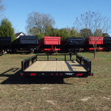83X14 Single Axle Utility Trailer with Side Rail Ramps, Radial Tires & LED Lights