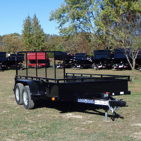 77x12 Tandem Axle Solid Side Utility Trailer with 4' Fold Gate and LED Lights