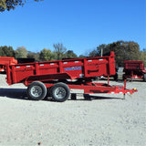83X14 Tandem Axle Dump Trailer 3-Way Gate Slide-In Ramps Radial Tires and LED Lights