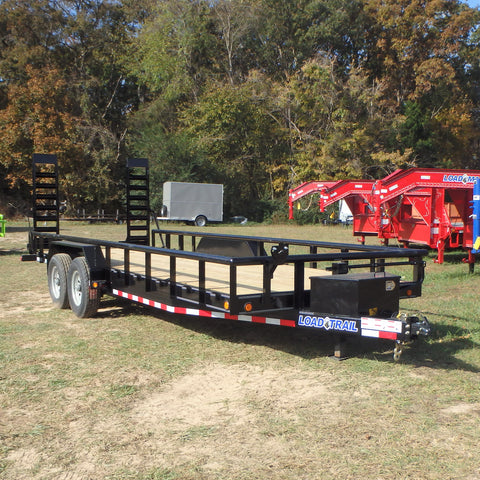 "83X22 14K Tandem Axle Car Hauler with 5'x16"" Fold Up Ramps Dexter Spring Axles and LED Lights"
