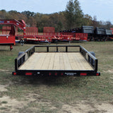 "77x14 Single Axle Utility Trailer with 15"" Radial Tires and LED Lights"