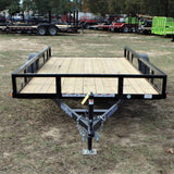 77X12 Single Axle Utility Trailer W/Angle Iron Sides, Radial Tires & LED Lights