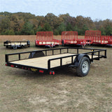 "77x12 Single Axle Utility Trailer with 15"" Radial Tires and LED Lights"