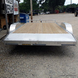 82X18 Tandem Axle Aluminum Utility Trailer Ramp Gate Radial Tires and LED Lights