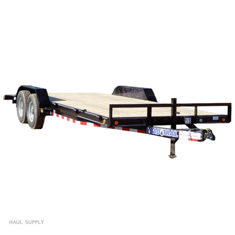 83X20 Tandem Axle Equipment Trailer Slide-In Ramps Dovetail Radial Tires and LED Lights