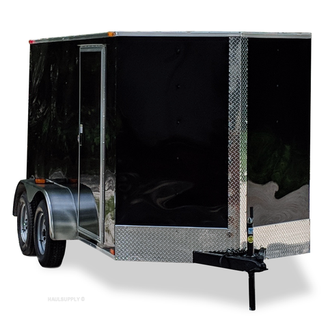 SPARTAN 6X12 Tandem Axle V-Nose Cargo Trailer Rear Ramp and Radial Tires - Haul Supply