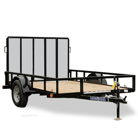 77X10 Single Axle Utility Trailer Rear Gate Radial Tires and LED Lights