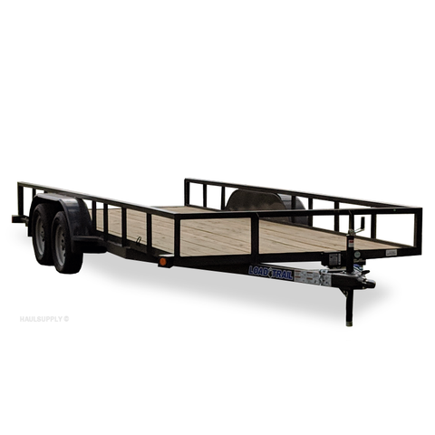 83X18 Tandem Axle Utility Trailer Slide-In Ramps Radial Tires and LED Lights