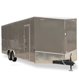 "8.5X24 Tandem Axle Slant V-Nose Enclosed Cargo Trailer 84"" Interior Rear Ramp Radials and LEDs"