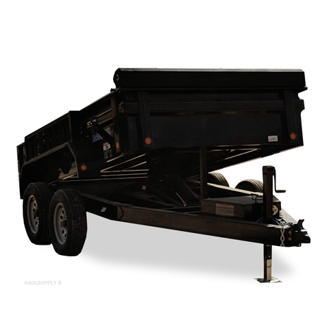 LOAD TRAIL 72X10 Tandem Axle Dump Trailer 3-Way Rear Gate Side Mounted Ramps Radials and LED Lights - Haul Supply