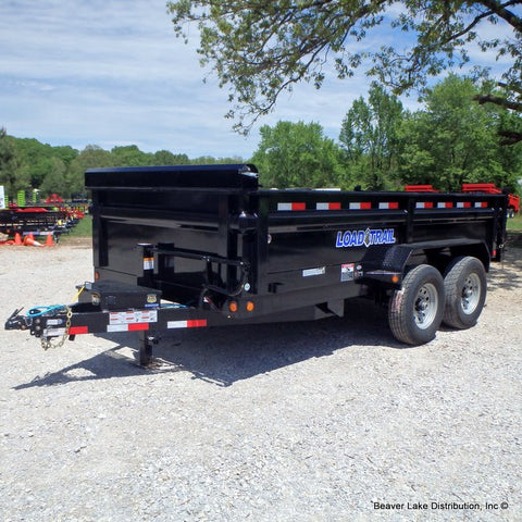 "83X14 Tandem Axle Dump Trailer W/24"" Sides, 3 Way Gate, Radial Tires & LED Lights"