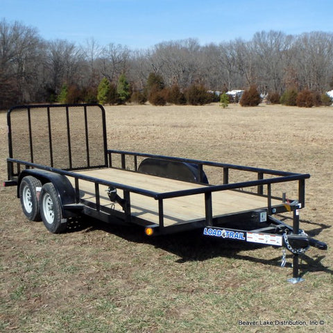77X16 Tandem Axle Utility Trailer Rear Gate Radial Tires and LED Lights