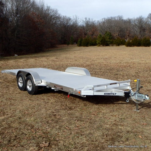 82X20 Aluma Car Hauler with Gravity Tilt Deck NO RAMPS NEEDED Smooth Riding Torsion Axles