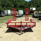 83x20 Tandem 10K Axle Car Hauler with Rear Fold Up Ramps Radial Tires and LED Lights