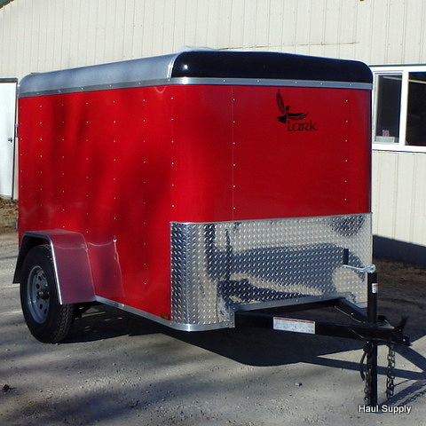 "5x8 Flat Front Cargo Trailer with Single Rear Door 15"" Radial Tires and LED Lights"