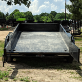 HH TRAILERS 76X12 Tandem Axle Dump Trailer Barn Door Gate Spreader Slide-In Ramps Radials and LED Lights - Haul Supply