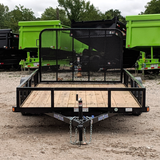LOAD TRAIL 77X12 Single Axle Utility Trailer 4' Fold Gate Radial Tires and LED Lights - Haul Supply