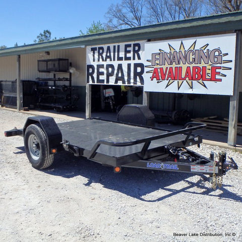 "77x12 Single 7K Torsion Axle Scissor Hauler Trailer with 16"" 10 ply Radials and Cushion Gravity Tilt"
