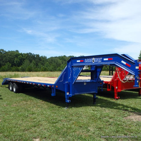 "102X32 Tandem Axle Gooseneck Trailer with 5' Self Clean Dove, Flip Over Ramps, 16"" Radial Tires & LED Lights"