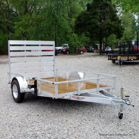 76X10 Single Axle Aluminum Utility Trailer with Rear Gate Radial Tires & LED Lights REDUCED FROM $1995