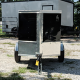 SPARTAN 4X6 Single Axle V-Nose Cargo Trailer Rear Door Radial Tires and LED Lights - Haul Supply