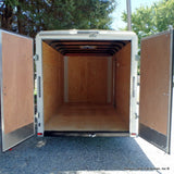 6X12 Single Axle Flat Front Cargo With Double Rear Doors Radial Tires & LED Lights