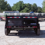 83X14 Tandem Axle Dump Trailer 3 Way Gate Slide In Ramps Radial Tires and LED Lights
