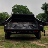 83X16 Tandem Axle Dump Trailer 3-Way Rear Gate Slide-In Ramps Radial Tires and LED Lights
