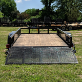 Hillbilly MFG 76X16 Tandem Axle Utility Trailer 4' Tube Gate Side Rails and Radial Tires - Haul Supply