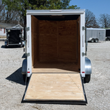 "6X12 Tandem Axle Slanted V-Nose Cargo Trailer with 78"" Interior Height Rear Ramp and LED Lights"