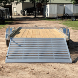 ALUMA, LTD. 6X16 Tandem Axle Aluminum Utility Trailer 5' Rear Ramp Radial Tires and LED Lights - Haul Supply