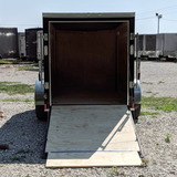 ROCK SOLID 5X10 Single Axle Cargo Trailer Rear Ramp Radial Tires and LED Lights - Haul Supply