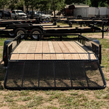 83X16 Tandem Axle Utility Trailer 4' Fold Gate Side Rails Radial Tires and LED Lights