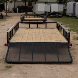 LOAD TRAIL 77X14 Single Axle Utility Trailer 4' Fold Gate Radial Tires and LED Lights - Haul Supply
