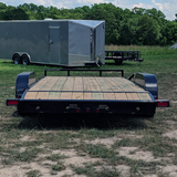 83X18 Tandem Axle Car Hauler Slide-In Ramps Dovetail Radial Tires and LED Lights