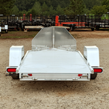 ALUMA, LTD. 4X11 Single Axle Aluminum Motorcycle Trailer Slide Out Ramp Radial Tires and LED Lights - Haul Supply