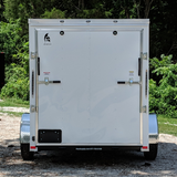 SPARTAN 6X10 Single Axle V-Nose Enclosed Cargo Trailer Rear Ramp Radial Tires and LED Lights - Haul Supply