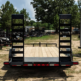 83X20 Tandem Axle Car Hauler Fold Up Ramps Dove Tail Radial Tires and LED Lights