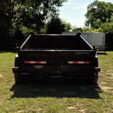 83X14 Tandem Axle Dump Trailer Barn Door Gate Spreader Slide-In Ramps Radial Tires and LED Lights