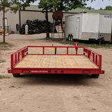 83X14 Single Axle Utility Trailer Side Rail Ramps Radial Tires and LED Lights